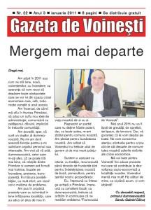 Gazeta de Voinesti nr. 22